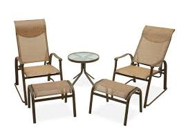 reclining patio chair with ottoman patio chairs with ottomans awesome sling back patio chairs with