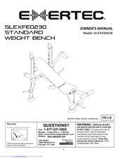 Exertec Fitness Weight Bench Exertec Slexfe0230 Manuals
