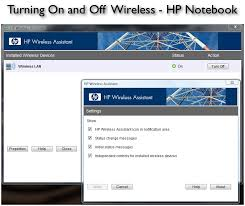 Wifi Hp Turning On And Wireless Hp Notebook Laptop Enabling Wifi