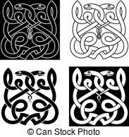 vector clipart of snake and celtic patterns the vector image of