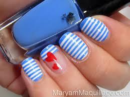maryam maquillage sailor stripes nail art u0026 easy tutorial