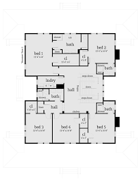 farmhouse style house plan 5 beds 4 50 baths 4742 sq ft plan 64 248
