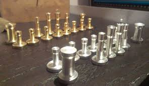 chess set with brass and aluminum pieces analog games home design