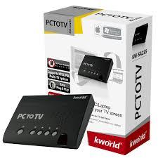 kw sales amazon com kworld kw sa235 hz plustv pc to tv converter with