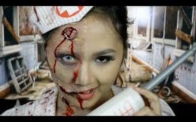 halloween makeup tutorial nurse zombie youtube