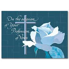 vow renewal cards congratulations on the occasion of profession religious profession