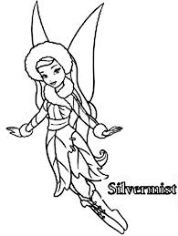 silvermist tinkerbell friend u0027s coloring netart