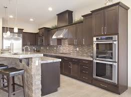 exceptional chocolate colored cabinets kitchen backsplash dark
