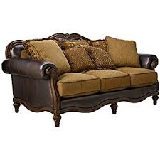 Claremore Antique Living Room Set Furniture Signature Design Claremore Sofa