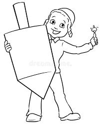 large dreidel boy holding large dreidel stock illustration illustration