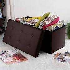 unbranded faux leather storage ottomans ebay