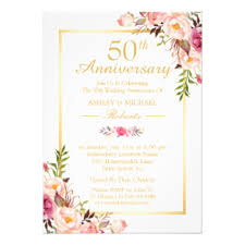 50th anniversary invitations announcements zazzle