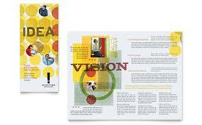 marketing consultant tri fold brochure template word u0026 publisher