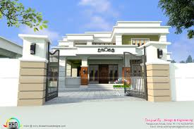 home design engineer 355 sq yd decorative flat roof home kerala home design and floor
