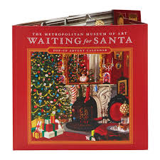 advent calendar waiting for santa pop up advent calendar the met store