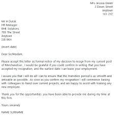 sample of resignation letter for agency resume layout 2017