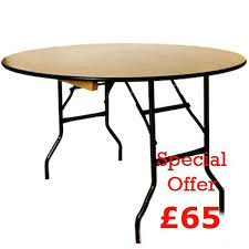 6ft Banquet Table by Secondhand Chairs And Tables Round Tables With Folding Legs
