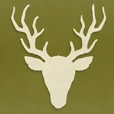 unfinishedwoodco rustic deer head silhouette