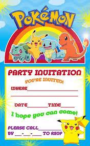 pokemon coloring pages pokemon pikachu party invite birthday
