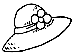 Flowered Girl Hat Coloring Pages Coloring Sun Coloring Page Of A Hat