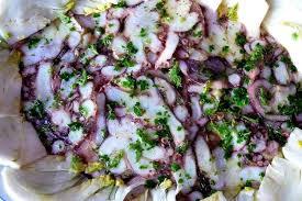 cuisiner poulpe recette de carpaccio de poulpe la recette facile
