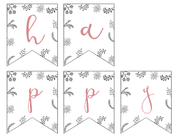 happy easter banner printable paper trail design