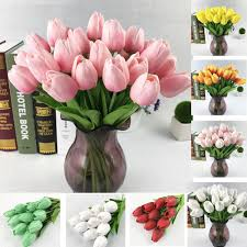 2017 tulip artificial flower pu artificial bouquet real touch