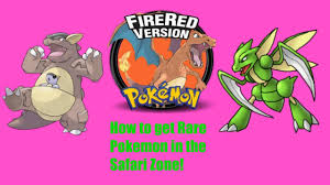 Safari Zone Red Map Pokemon Firered Leafgreen How To Catch Sycther Chansey Tauros