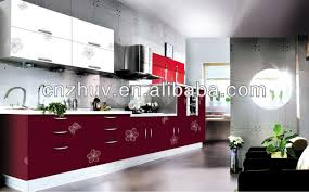 High Gloss Paint For Kitchen Cabinets High Gloss Wood Grain Painted Kitchen Cabinet Buy High Gloss