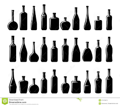 wine silhouette wine and beer bottles silhouettes stock vector image 57478672