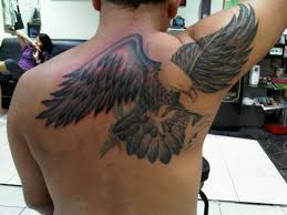 big eagle tattoo on right back shoulder tattoos book 65 000