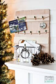 christmas card display holder rustic diy christmas card holder