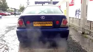 lexus is300 bhp lexus is200 turbo drift car custom sports exhaust youtube