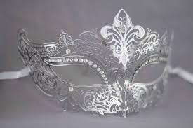 laser cut masquerade masks silver grey laser cut metal masquerade mask for