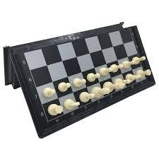 travel chess set images Mini folding board games board size 19 5 cm x 19 5 cm magnetic jpg