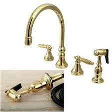 Polished Brass Kitchen Faucet Brass Kitchen Faucets Ebay