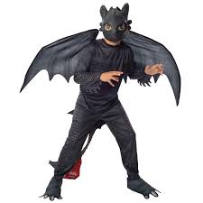 train dragon 2 night fury toothless kids costume