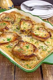 pork chops u0026 scalloped potatoes casserole the midnight baker