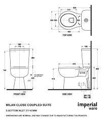 Shower Measurements Bathroom by Heirloom Milan Close Coupled Toilet Suite 371107m10 371108m10