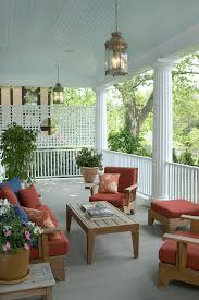 back porch designs porch traditional with red seat cushions red
