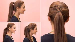 fast and easy hairstyles for medium hair 4 easy ponytail