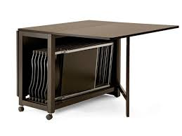 Black Folding Dining Table Glossy Brown Folding Dining Table Small Casters Folding Chairs