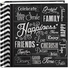 pioneer album pioneer photo albums 200 pocket chalkboard printed happiness