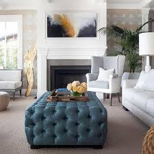 Tuffted Ottoman Blue Tufted Ottoman Bonners Furniture