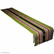lime green table runner buy lime green handmade cotton ethnic table runner with stripes at