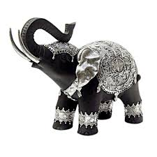 black u0026 silver elephant figurine at home at home