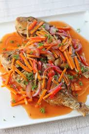 Western Recipes Main Dish - sweet and sour fish pinoy or spanish style traditional