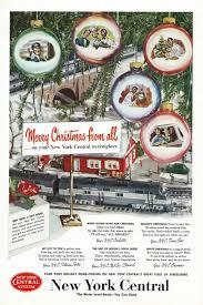 vintage new york christmas train ad 1950 u0027s new york