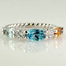 white gold mothers rings contemporary mothers rings silver 1 to 3 square stones stackable