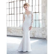beading wedding dresses detachable ivory illusion sleeves sheath lace beading